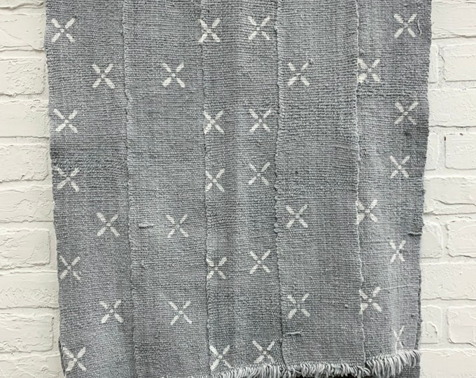 Mud Cloth fabric, Gray and white print mud cloth, African mudcloth, Morrissey Fabric