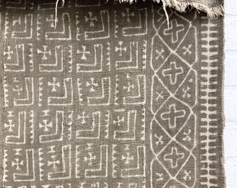Vintage Mud Cloth, Mudcloth fabric, African Bogolan textile, Fermented mud paint, Morrissey Fabric