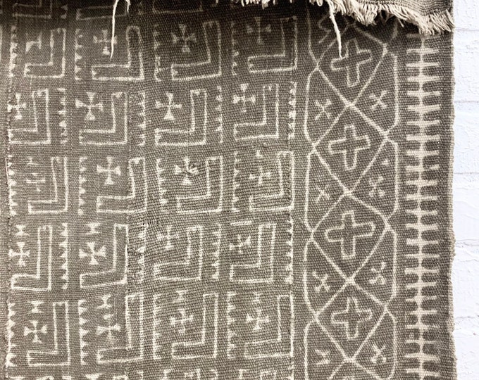 Vintage Mud Cloth, Mudcloth fabric, African Bogolan textile from Mali, Fermented mud paint, Morrissey Fabric