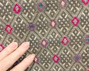 Chinese Wedding Textile, Miao minority hemp fabric, Vintage Wedding quilt fabric, Morrissey Fabric