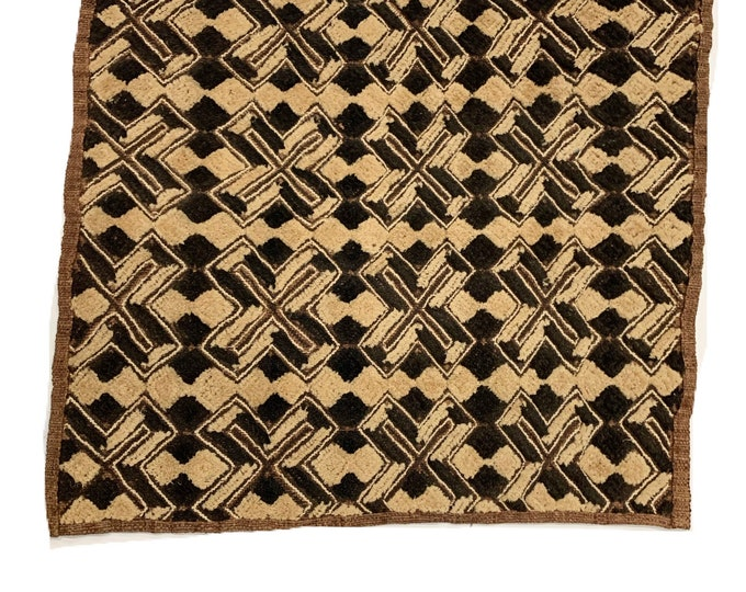 Kuba Cloth ,Tapestry Wall Decor | Rug Wall Hanging | African Tribal Tapestry, 2H