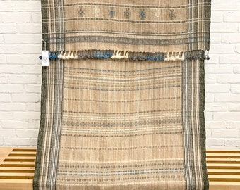 Bhujodi wool throw, Pure wool vintage Indian throw, Wool throw blanket, Tribal wall hanging, Morrissey Fabric