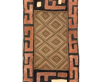 Kuba Cloth, Vintage Textile, Hand made, African Wall Art, Morrissey Fabric Kuba 4A