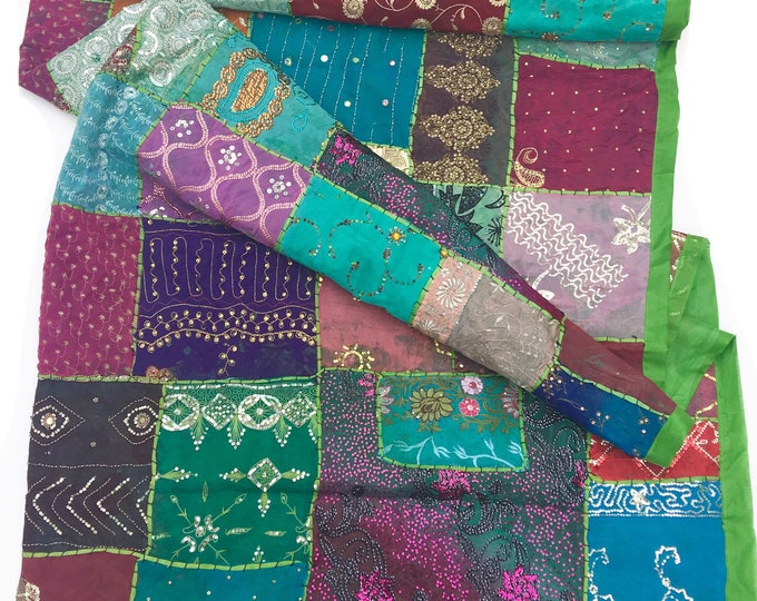 Patchwork bedspread, eclectic style decor, Bohemian bedspread, teen bed cover