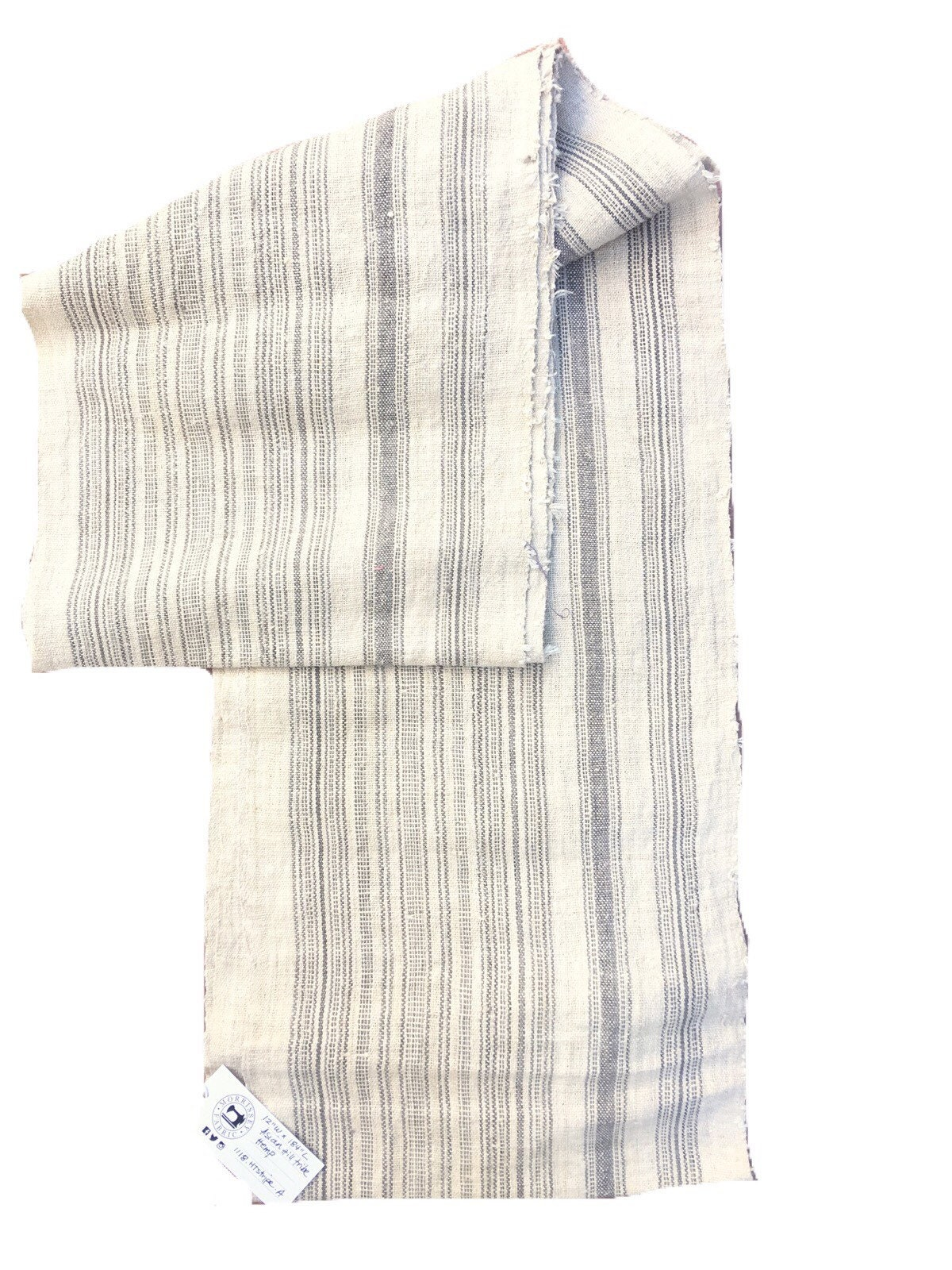 fd26d0212e8a Gris avec de des rayures de couleur naturelle, tissu de avec chanvre lin  chinois