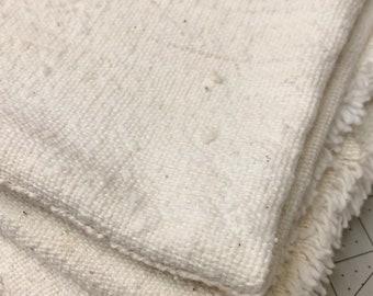 White Mud Cloth fabric, Mud Cloth table runner, Natural Mud cloth, Natural Cotton, Modern Mud, Morrissey Fabric
