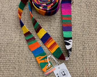 Guatemalan multi color Strapping, Sewing Trim, Multi color, Purse Strap, Hand Loomed decorative ribbon, Morrissey Fabric