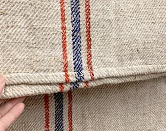 Grain Sack, Vintage Grain sack, Grainsack Fabric, Linen and Hemp Fabric, Patriotic Grainsack