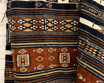 Vintage African Fulani woolen, Africana textile wall art, African fabric, Morrissey Fabric