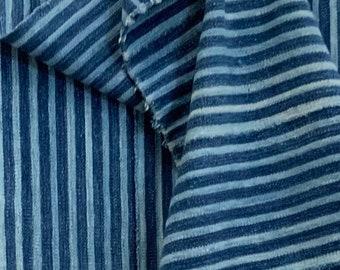 Mud Cloth striped throw, Indigo mudcloth, Vintage African mud cloth fabric, Bogolan, Morrisseyfabric