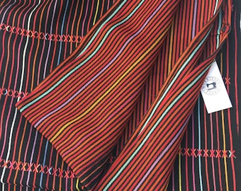 Vintage Guatemalan Embroidered Fabric, Hand Loomed Guatemalan vintage Textile, Morrissey Fabric