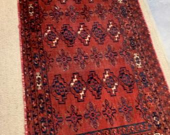 Vintage Rug, Vintage Boho Carpet, Bohemian Accent rug, Morrissey Fabric