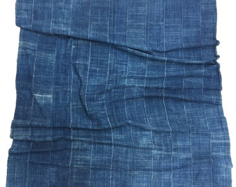African Indigo, Large Clean Mud Cloth, African Textile or Bed cover