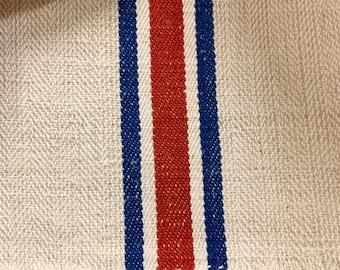 Reserved: Grain Sack, Vintage Grain sack, Grainsack Fabric, Linen and Hemp Fabric