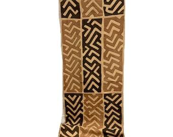 Kuba Cloth, vintage African textile, Black Weave with soft salmon color Appliqués, Hand stitched, Morrissey Fabric