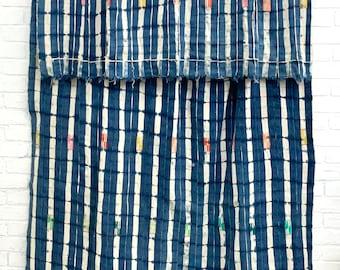 Mud Cloth, XL Vintage Baule Cloth, Collectors African mud cloth, vintage indigo fabric, Morrissey Fabric