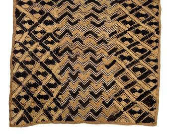 Kuba Cloth fabric, Shoowa textile, Wall Decor | Rug Wall Hanging | African Tribal Tapestry, Morrissey Fabric