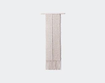 Minimalist wall hanging, modern fiber art, cozy home decor by WAVES'N'ME