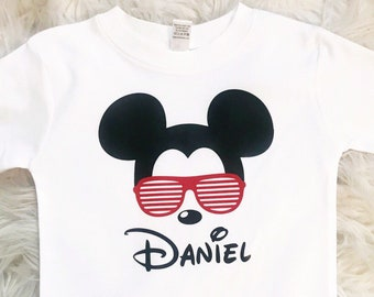 a5a0fe301 Personalized Mickey Mouse Shirt, Toddler Mickey Mouse Shirt, Mickey  Birthday Shirt, Disneyland Shirt, Boys Disney Shirt, Boy Mickey Mouse