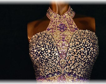Evening Gown dress/Prom dress/Ball dress By Laurag-crystals.com