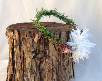 Nats - floral crown, floral tiara, natural dried foliage crown, flower tiara, flower crown,  bridesmaids, woodland wedding, bride