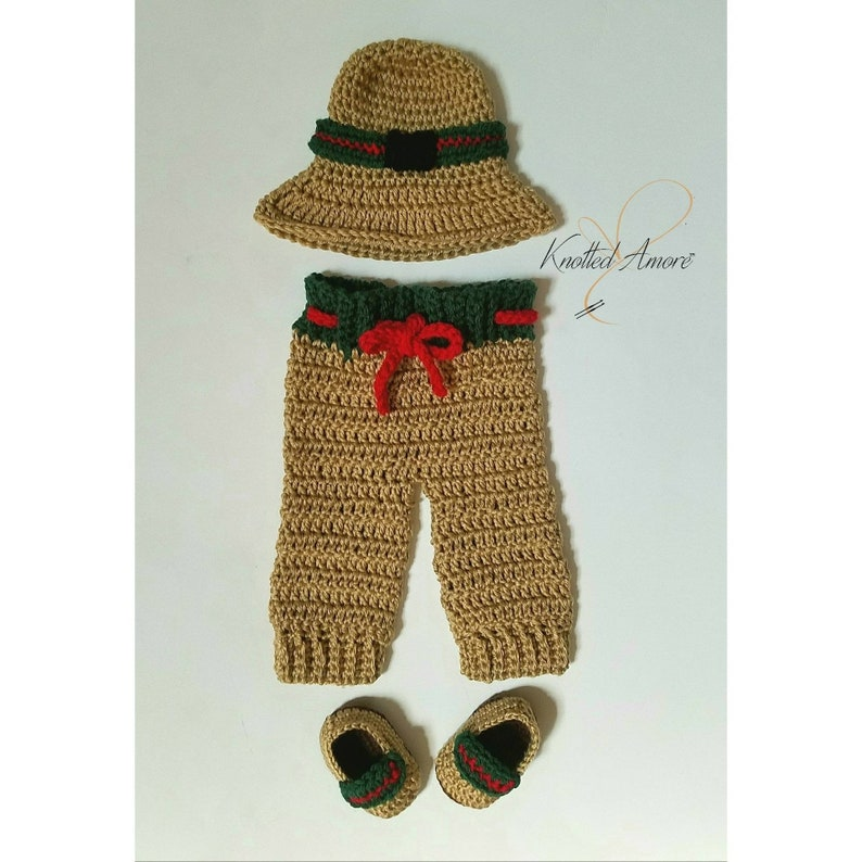 9a9f337aa Crochet Gucci Gucci Inspired Set Newborn set photo prop | Etsy