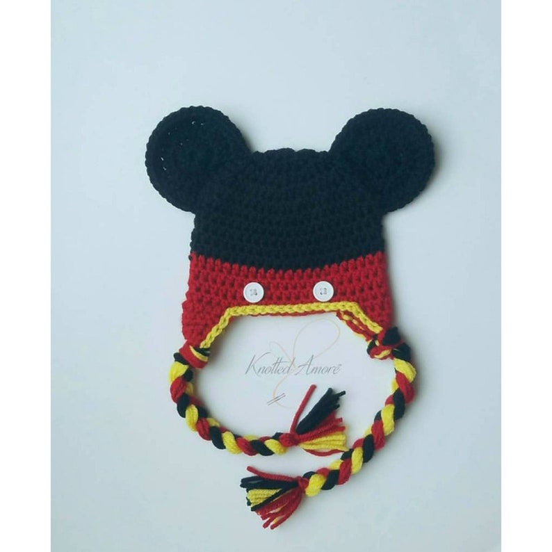 Crochet mickey mouse hat baby boy character hat mickey  5f579ac2e0e