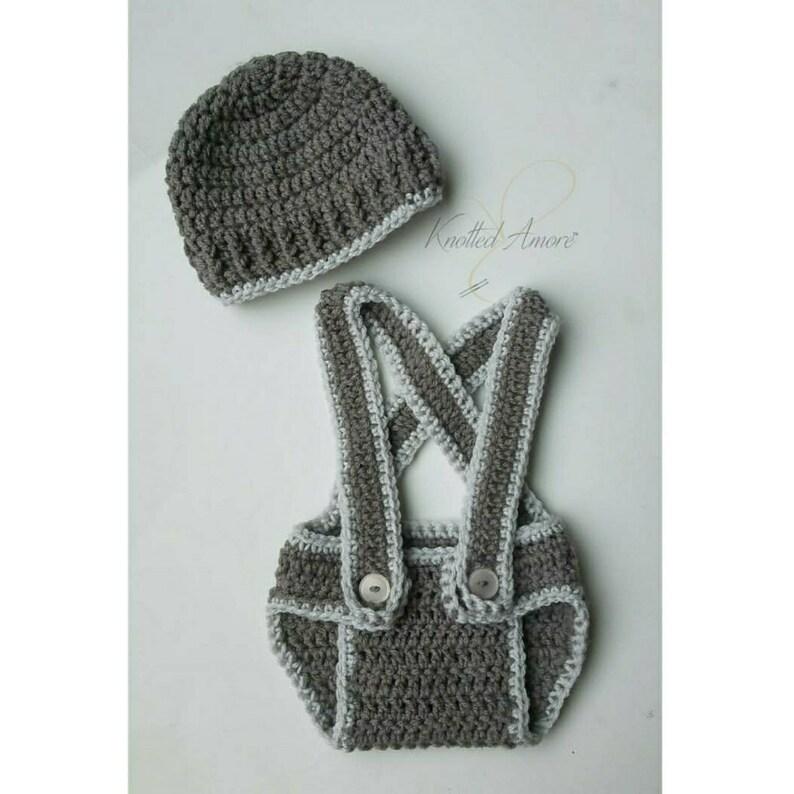 Baby Props Baby Boy Suspenders Crochet Baby Suspenders Baby Romper Newborn Photography Outfit Crochet Romper Grey Baby Boy Romper