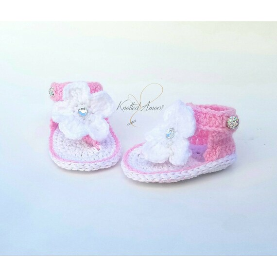 Crochet baby sandals gladiator sandals