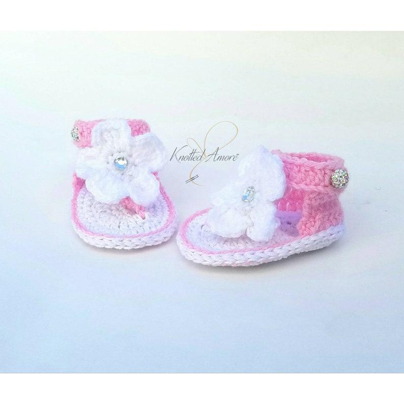 Crochet baby sandals gladiator sandals baby girl slippers