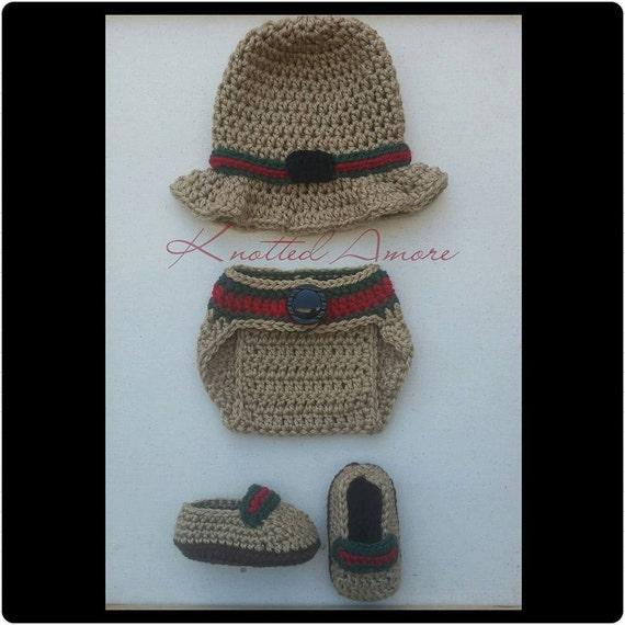 Crochet Gucci Gucci Inspired Set Newborn set photo prop  b90dd329ef6