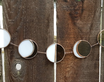 New Moon to Full Moon 5 Piece Lunar Phase-Gray/White/Copper