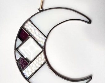 Crescent Moon with Beveled Glass