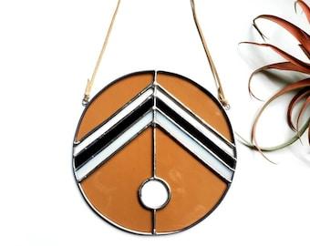 Circular Stained Glass Suncatcher