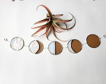 New to Full Moon Phase-Sunset Peach Lunar White