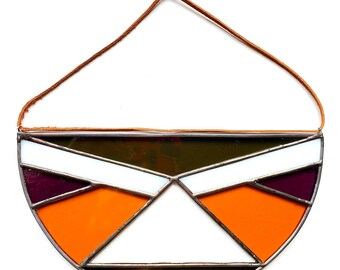 Stained Glass Semi-Circle-Fall Color Scheme