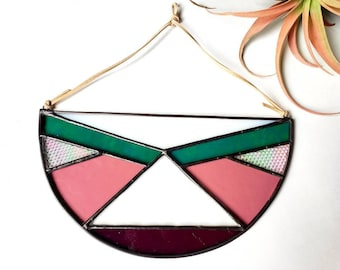 Stained Glass Semi-Circles-Spring Color Scheme