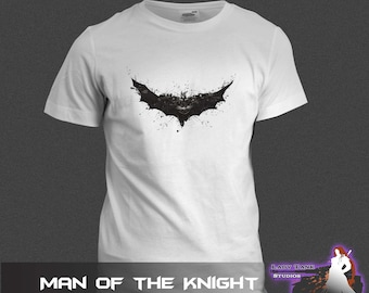 Batman - Man of the Knight  (Unisex/Ringspun/Ladies) Tshirt