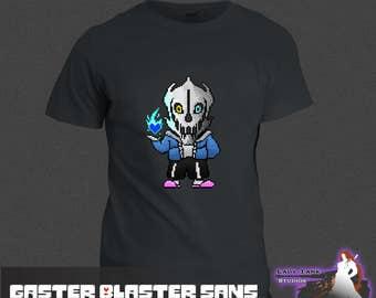 Undertale - Gaster Blaster Sans  (Unisex/Ringspun/Ladies) Tshirt