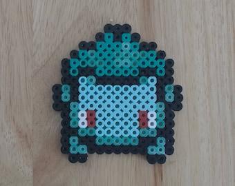 Bulbasaur Pokemon - 4.5x4.5 Perler Bead Art Pixel Art