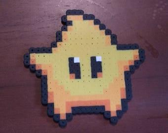 Super Mario - Luma  4.5x4.5 Perler Bead Art Pixel Art