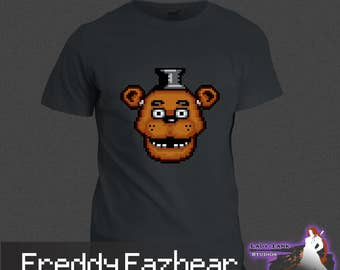 Five Nights at Freddy's - Freddy Fazbear (Unisex/Ringspun/Ladies) Tshirt FNAF