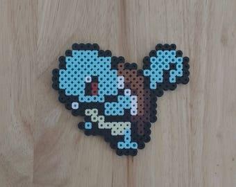 Squirtle Pokemon - 4.5x4.5 Perler Bead Art Pixel Art
