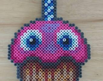 Five Nights at Freddy's - Chica's Cupcake 8.5x5.5 Perler Bead Art Pixel Art FNAF