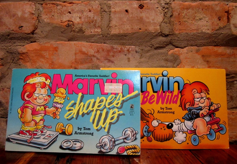 Vintage Marvin Comic Book Set Marvin Shapes Up Marvin Born To Be Wild Tom  Armstrong Rare Comic Books 80s Gifts Humor Book Classic Cartoon