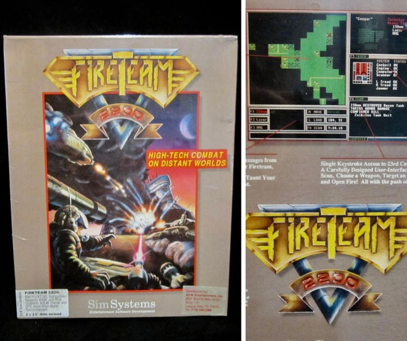 Vintage PC Game Fireteam 2200 IBM Computer Games Factory Sealed New In Box  90s Video Games Floppy Disk Retro Gaming Gifts Sci Fi Fantasy