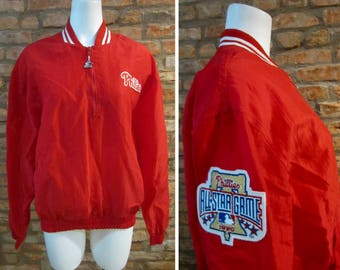 Vintage Early 70's Philadelphia Phillies Staff Issued Full Zip Jacket