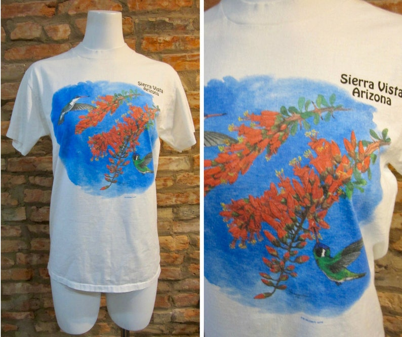 c8566f539 Hummingbird Shirt Retro Nature Print Vintage Tee Sierra Vista | Etsy