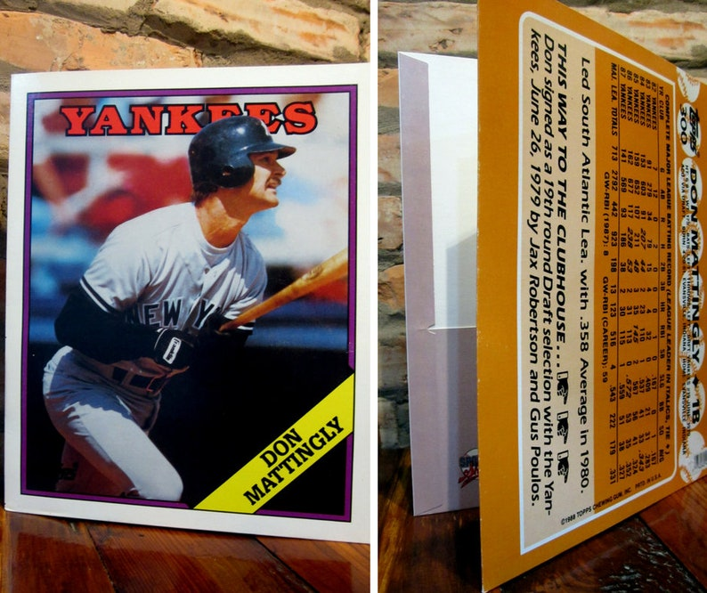 Vintage Yankees Baseball School Folder 80s Mlb New York Etsy