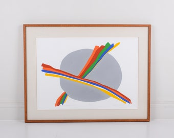 Original Silkscreen by C. Daniel Gelakoska - Rainbow Cloud, 1979